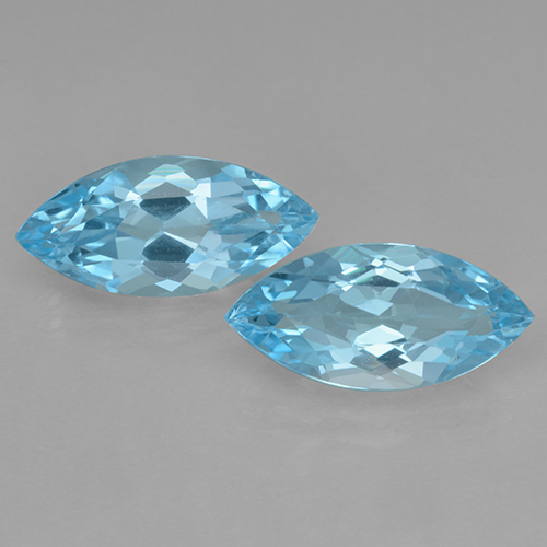 Swiss Blue Topaz Gem - 3.6ct Marquise Facet (ID: 501717)