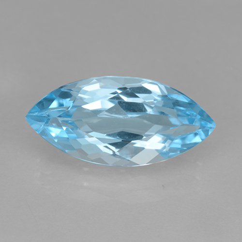 Baby Blue Topaz Gem - 3.8ct Marquise Facet (ID: 502028)