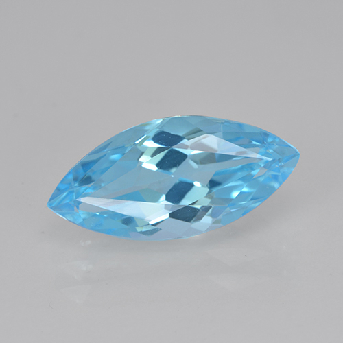 Swiss Blue Topaz Gem - 4.1ct Marquise Facet (ID: 502570)