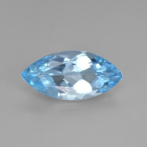 Swiss Blue Topaz Gem - 3.8ct Marquise Facet (ID: 502573)