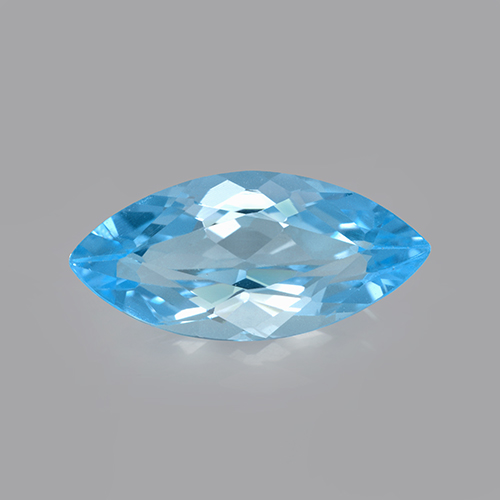 Swiss Blue Topaz Gem - 3.4ct Marquise Facet (ID: 502574)
