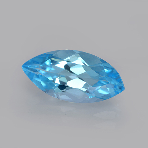 Swiss Blue Topaz Gem - 3.7ct Marquise Facet (ID: 502578)