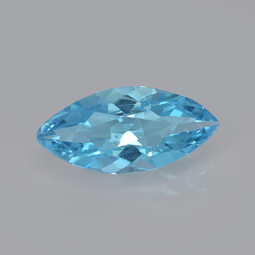Swiss Blue Topaz Gem - 3.3ct Marquise Facet (ID: 502581)