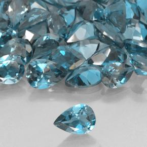 London Blue Topaz Gem - 0.7ct Pear Facet (ID: 503307)