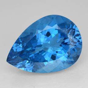 Rich Swiss Blue Topaz Gem - 24.1ct Pear Facet (ID: 503337)