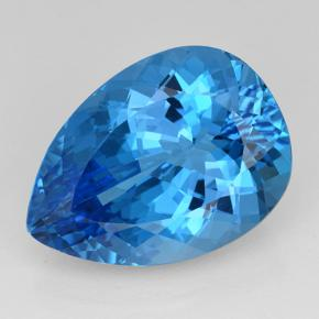 Rich Swiss Blue Topaz Gem - 27ct Pear Facet (ID: 503339)