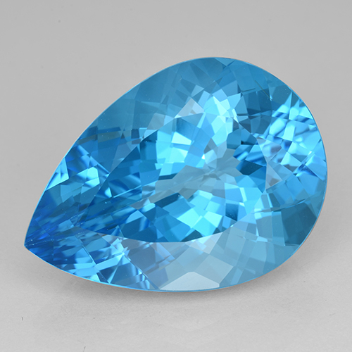 Rich Swiss Blue Topaz Gem - 23.9ct Pear Facet (ID: 503413)