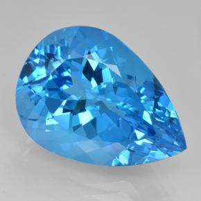 Rich Swiss Blue Topaz Gem - 24.1ct Pear Facet (ID: 503605)