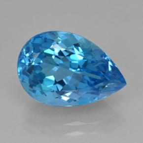 Rich Swiss Blue Topaz Gem - 8.4ct Pear Facet (ID: 504024)
