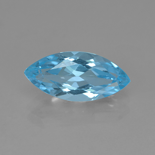 Swiss Blue Topaz Gem - 3.7ct Marquise Facet (ID: 504030)