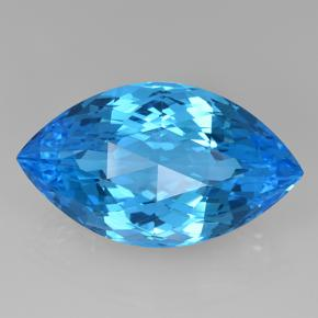 Swiss Blue Topaz Gem - 48ct Marquise Checkerboard (ID: 505674)