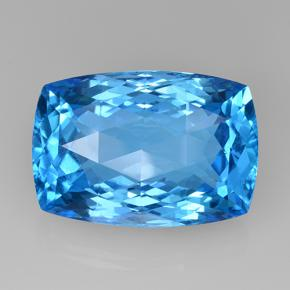 Swiss Blue Topaz Gem - 54.8ct Cushion Checkerboard (ID: 505676)