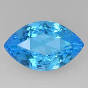 Swiss Blue Topaz Gem - 52.3ct Marquise Checkerboard (ID: 505680)