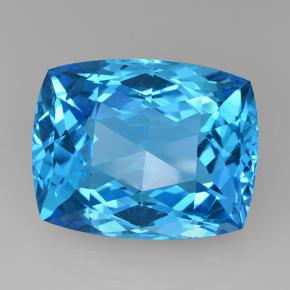 Swiss Blue Topaz Gem - 67.8ct Cushion Checkerboard (ID: 505681)