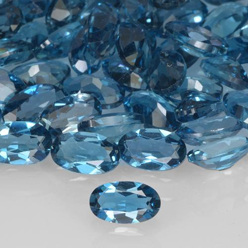London Blue Topaz Gem - 0.3ct Oval Facet (ID: 505840)