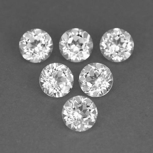 White Topaz Gem - 0.2ct Round Facet (ID: 509190)