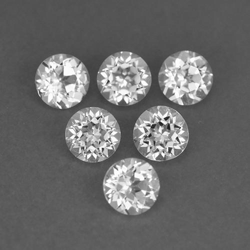White Topaz Gem - 0.2ct Round Facet (ID: 509199)