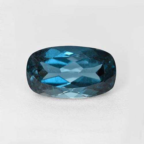London Blue Topaz Gem - 3.7ct Cushion-Cut (ID: 509696)