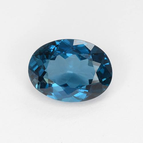 London Blue Topaz Gem - 3.8ct Oval Facet (ID: 509719)