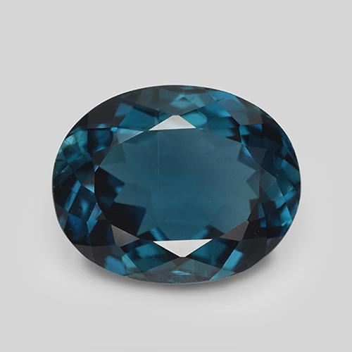 London Blue Topaz Gem - 5.3ct Oval Facet (ID: 509757)