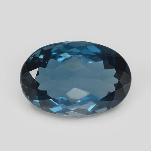 London Blue Topaz Gem - 4.5ct Oval Facet (ID: 509764)