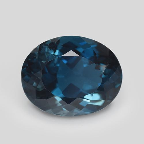 London Blue Topaz Gem - 6ct Oval Facet (ID: 509765)