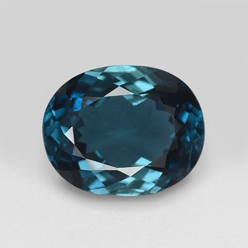London Blue Topaz Gem - 4.7ct Oval Facet (ID: 509766)