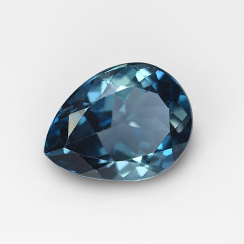 London Blue Topaz Gem - 3.1ct Pear Facet (ID: 509953)