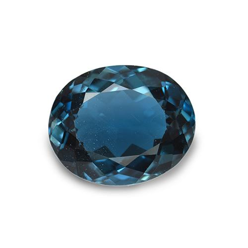 London Blue Topaz Gem - 4.4ct Oval Facet (ID: 509958)