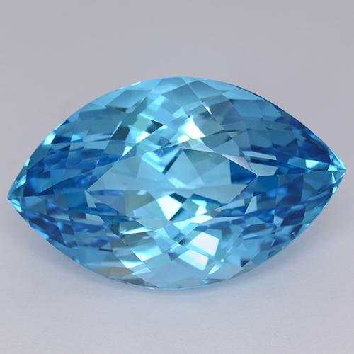 Swiss Blue Topaz Gem - 71.6ct Marquise Facet (ID: 510902)