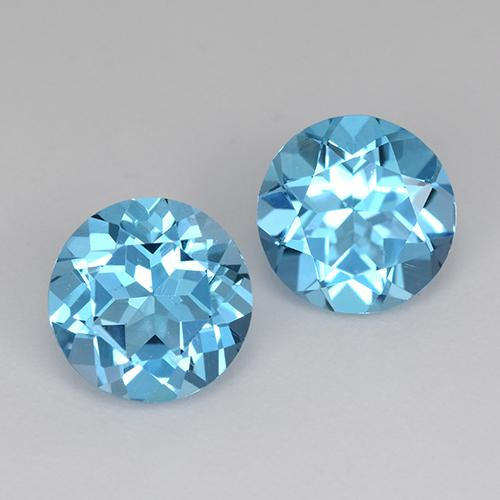 Swiss Blue Topaz Gem - 1.3ct Round Facet (ID: 511104)