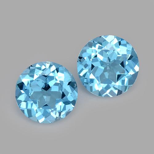 Swiss Blue Topaz Gem - 1.4ct Round Facet (ID: 511106)