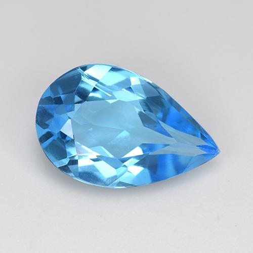 Swiss Blue Topaz Gem - 4.2ct Pear Facet (ID: 511191)