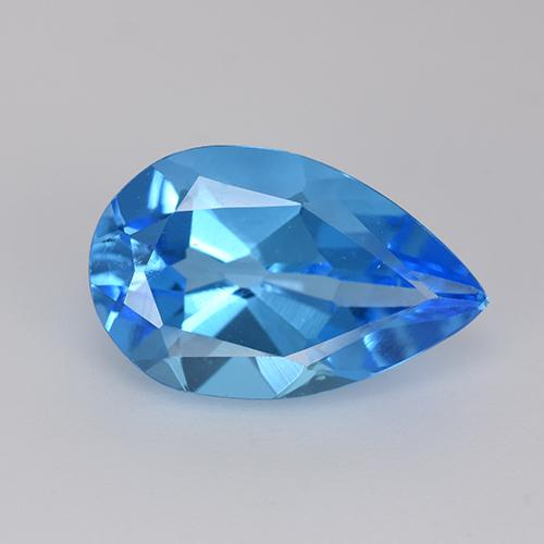 Swiss Blue Topaz Gem - 5.2ct Pear Facet (ID: 511194)