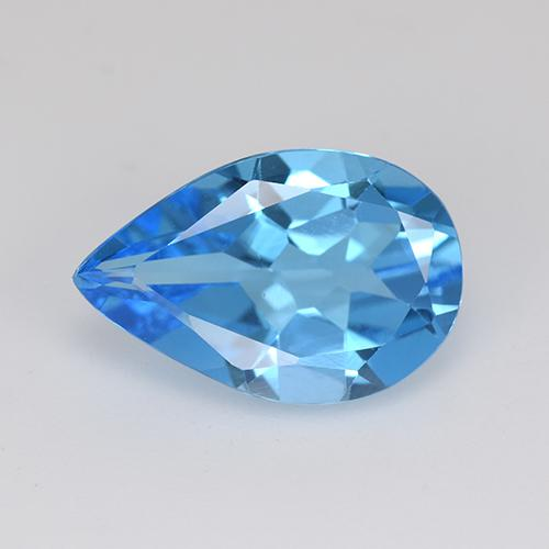 Swiss Blue Topaz Gem - 4.4ct Pear Facet (ID: 511196)