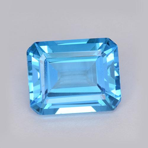 Swiss Blue Topaz Gem - 4.2ct Octagon Step Cut (ID: 511205)
