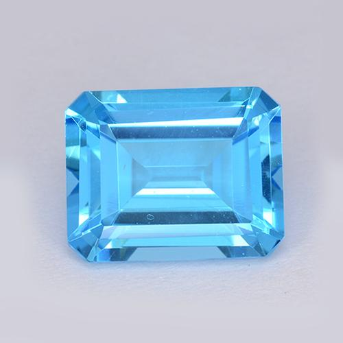 Swiss Blue Topaz Gem - 4.1ct Octagon Step Cut (ID: 511206)