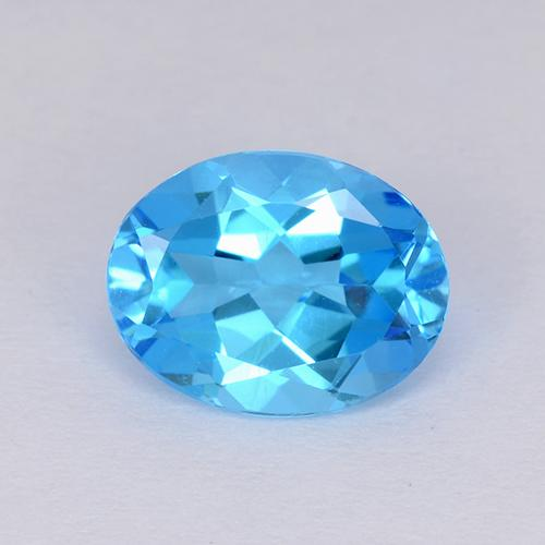Swiss Blue Topaz Gem - 2.2ct Oval Facet (ID: 511207)