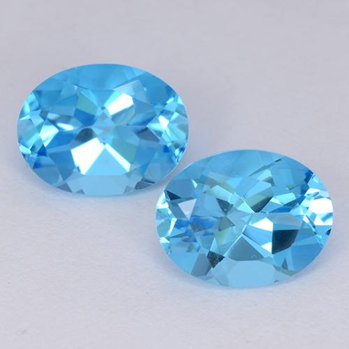 Medium Blue Topaz Gem - 2.2ct Oval Facet (ID: 511210)