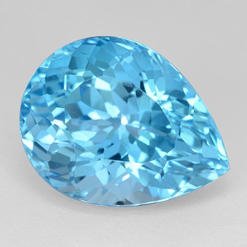 Swiss Blue Topaz Gem - 29ct Pear Facet (ID: 511265)