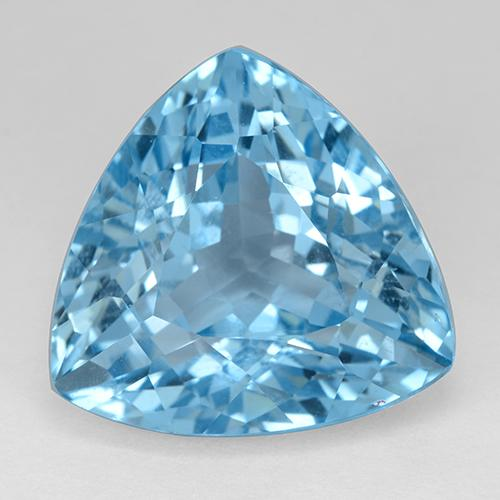 Swiss Blue Topaz Gem - 30.6ct Trillion Facet (ID: 511267)