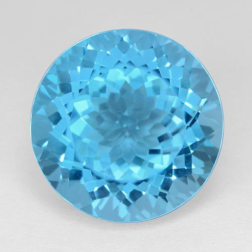 Medium Blue Topaz Gem - 20.1ct Round Facet (ID: 511269)