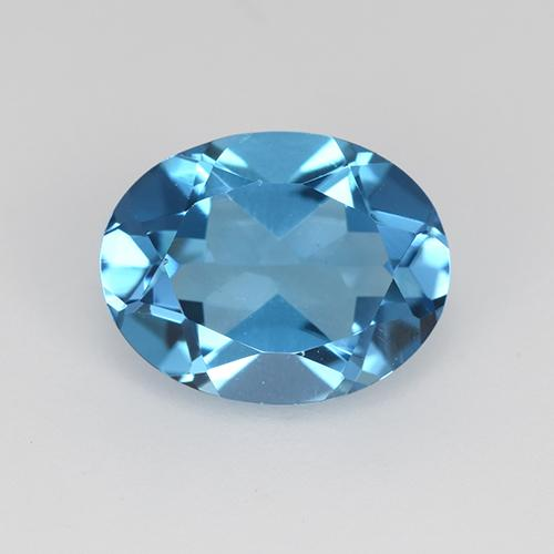 Swiss Blue Topaz Gem - 2.2ct Oval Facet (ID: 511644)