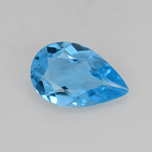 Swiss Blue Topaz Gem - 4.5ct Pear Facet (ID: 511656)