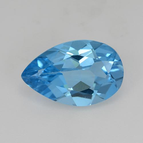 Swiss Blue Topaz Gem - 4.9ct Pear Facet (ID: 511659)