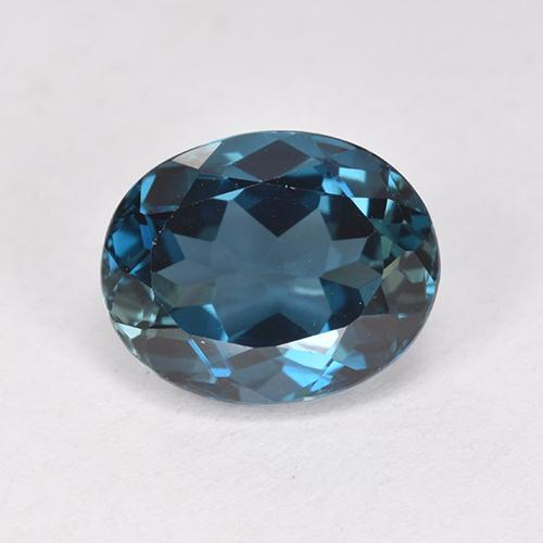 London Blue Topaz Gem - 3.1ct Oval Facet (ID: 512758)