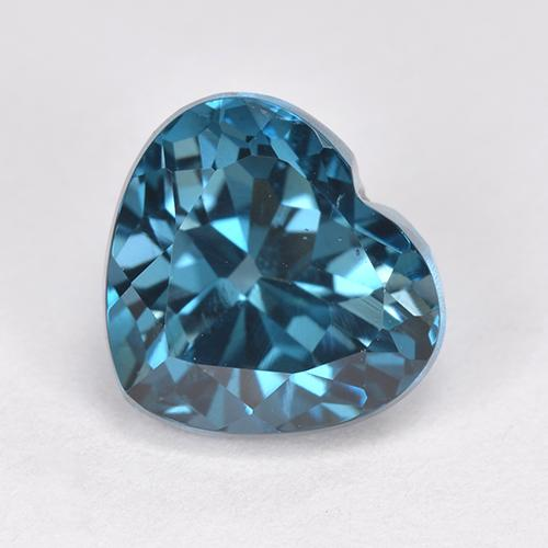 London Blue Topaz Gem - 3.6ct Heart Facet (ID: 512764)