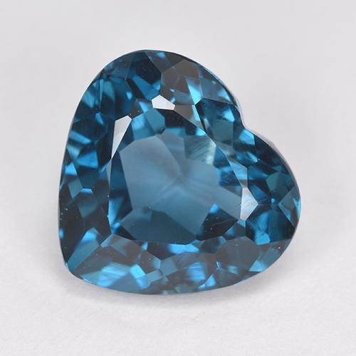 London Blue Topaz Gem - 5.2ct Heart Facet (ID: 512765)