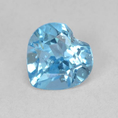 Light Cyan Blue Topacio Gema - 1ct Forma de corazón (ID: 512859)