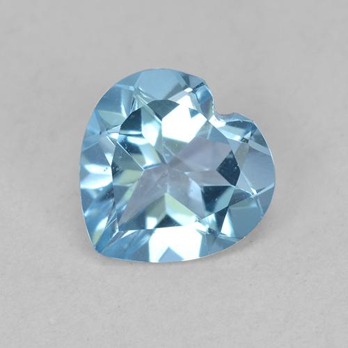 Swiss Blue Topaz Gem - 0.7ct Heart Facet (ID: 512867)